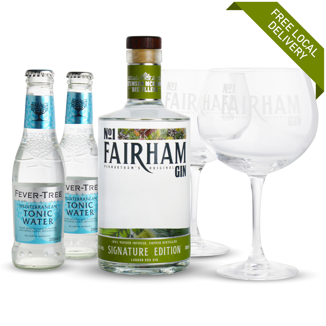 Signature Edition gin bundle gift set with free local delivery in Lancashire