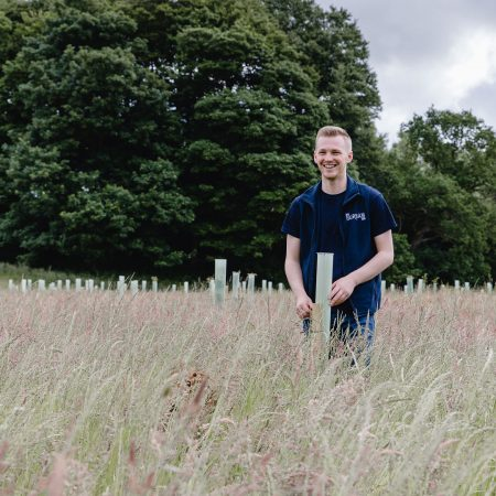 Liam Stemson Ribble Rivers Trust and No.1 Fairham Gin new partnership to plant trees in Lancashire