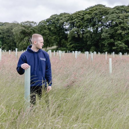 Ellis McKeown Ribble Rivers Trust and No.1 Fairham Gin new partnership to plant trees in Lancashire